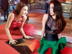 WATCH: Solenn Heussaff, Kris Bernal at Atom Araullo, natuwa sa kanilang Walk of Fame stars