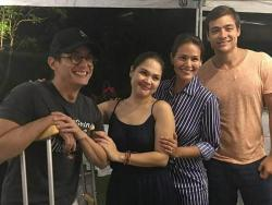 LOOK: Ryan Agoncillo at Judy Ann Santos, ninong at ninang nina Iza Calzado at Ben Wintle sa kasal