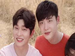 Lee Jong Suk Sends Coffee Truck To Close Friend Yoon Kyun Sang