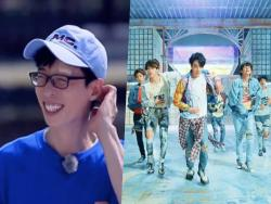 "Watch: Yoo Jae Suk Injures Himself While Dancing To BTS's ""Fake Love"" On ""Running Man"""