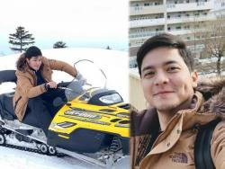 IN PHOTOS: Alden Richards and family spend white Christmas in Japan