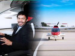 IN PHOTOS: Manny Pacquiao takes a break from training to check out a sport aircraft