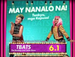 'The Boobay and Tekla Show,' lumalaki ang lamang sa TV ratings