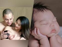 LOOK: Archie Alemania and Gee Canlas's first baby's one-month-old photos