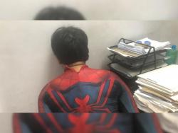 VIRAL: 'Spiderman' disrupts basketball game, nabbed