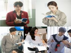 """The Bride Of Habaek"" Cast Just Can't Keep Their Eyes Off Their Scripts In New Stills"